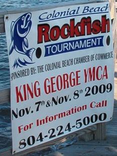 2009 Chamber of Commerce Rockfish Tournament Banner
