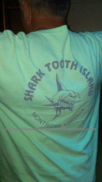 Sharks tooth island shirt