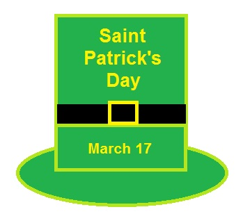 St. Patrick's Day hat graphic