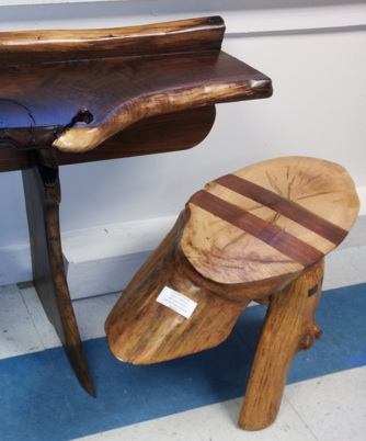 Wooden Stool and Table and Studio A