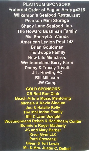 List of Platinum and Gold Sponsors