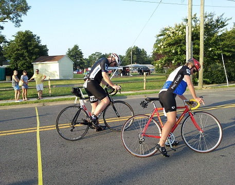 Triathlon bike riders