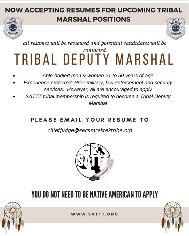 Tribal Marshal ad