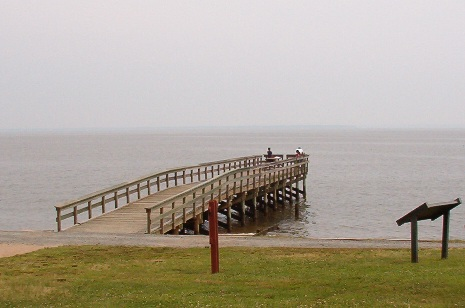 The fishing pier at Westmoreland State Park