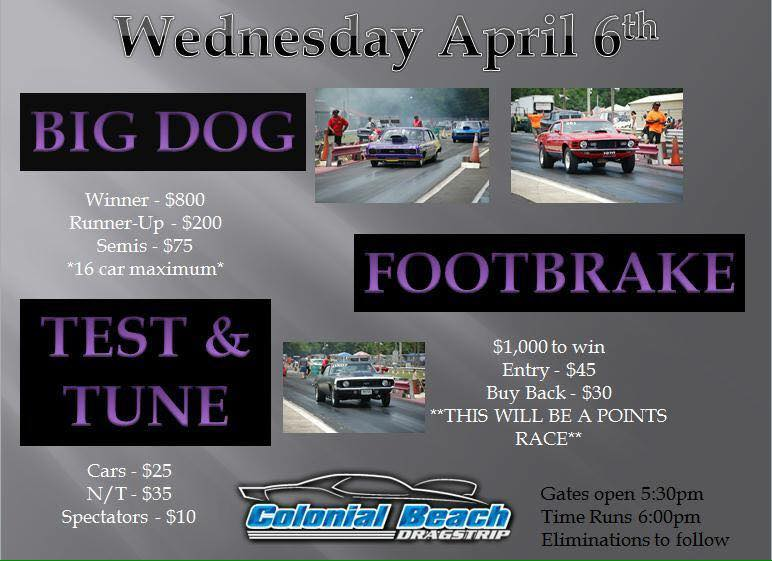 April 6 Dragstrip event