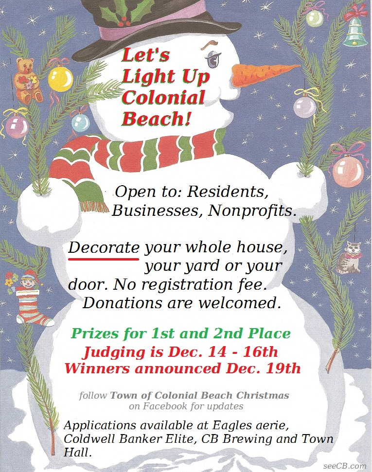 christmas lights contest flyer