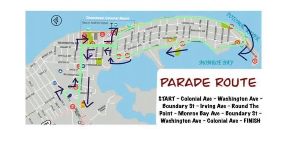 2021 Fire Rescue Squad Parade Route Map