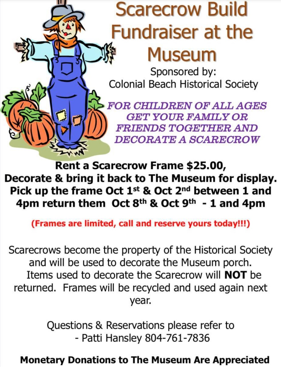 Scarecrow Fundraiser flyer