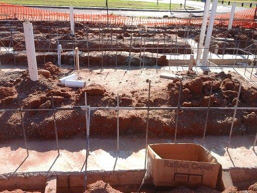 Bathhouse foundation construction June 17