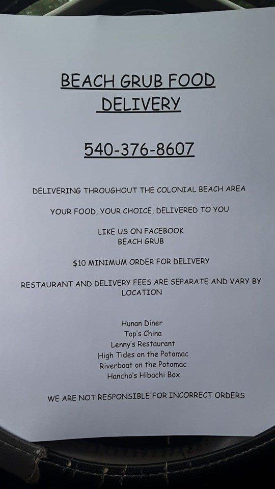 beach grub flyer