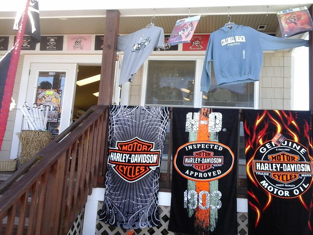 Merchandise at Beach Shop