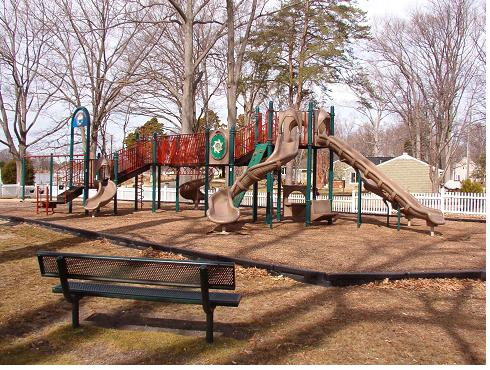 Playground equipment at Castlewood Park