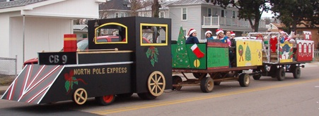 Train in Christmas Parade