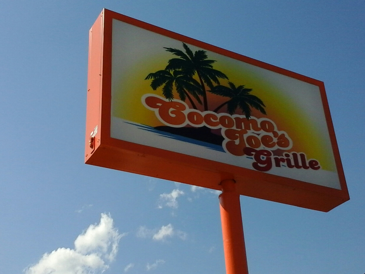 Cocomo Joes Grille sign