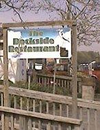 dockside restaurant sign