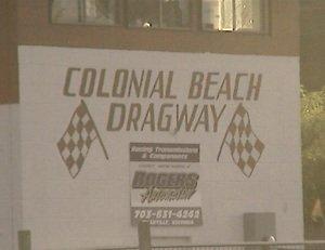 Colonial Beach Dragway press box