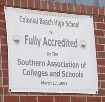 Fully Accredited sign