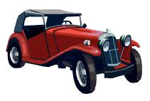 classic car convertible with top up