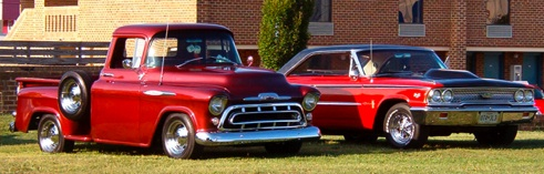 classic truck and car