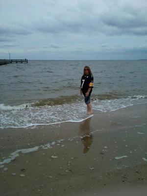 walk on the beach! watching the sun set