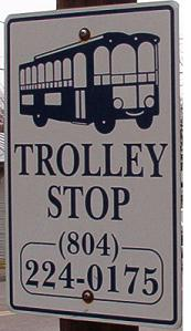 Trolley Stop Sign