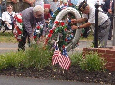 wreath laying