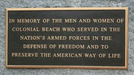 Honoring those who served placquard