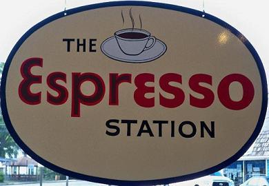 Espresso Station sign