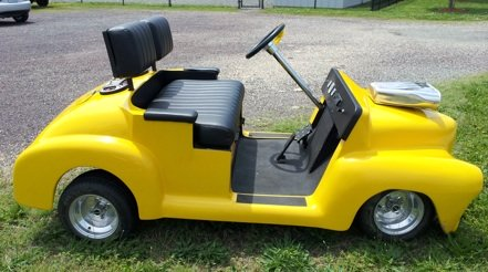 yellow golf cart