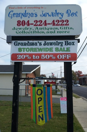 Grandma's Jewelry Box on Colonial Ave.
