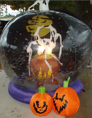 Halloween globe display