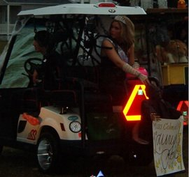 Miss Colonial Beach's Golf Cart