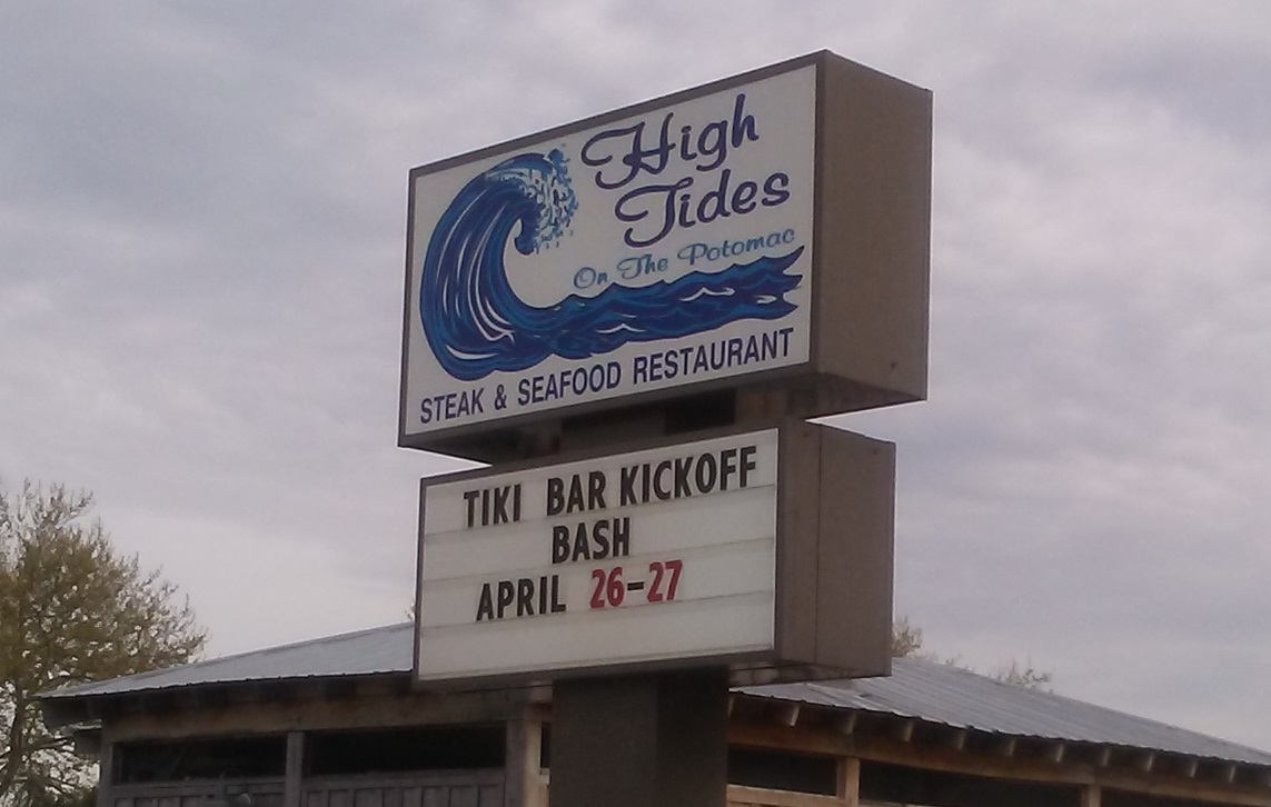 Tiki Bar Kickoff Sign