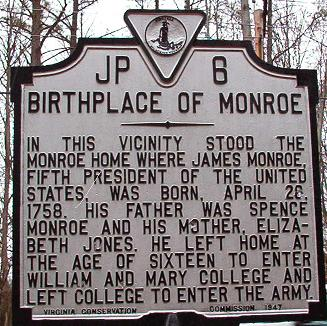 Monroe Birthplace Marker