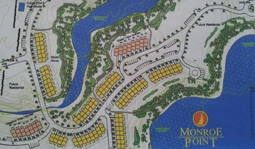 Monroe Point Townhomes site plat