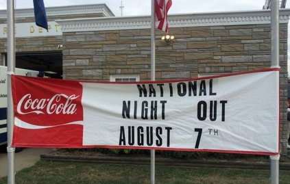 National Night Out sign