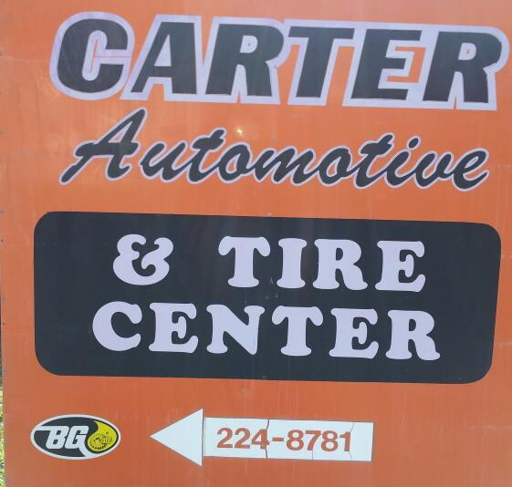 carter automotive sign