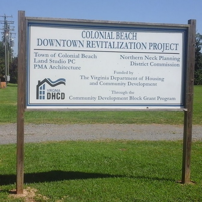 downtown revitalization project sign