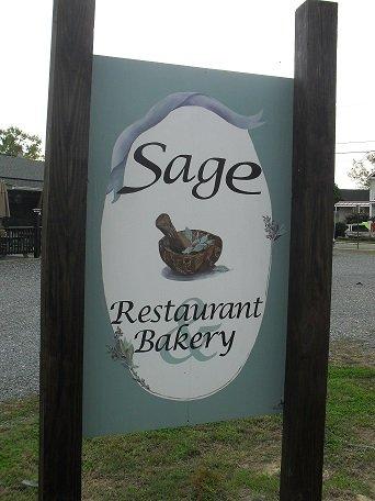 Sage restaurant sign