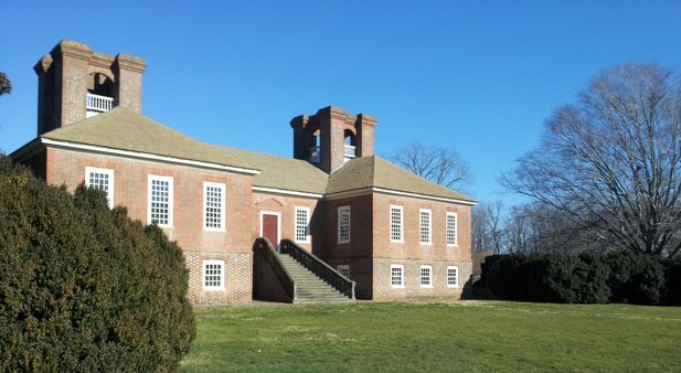 Rear of the Great House at Stratford Hall