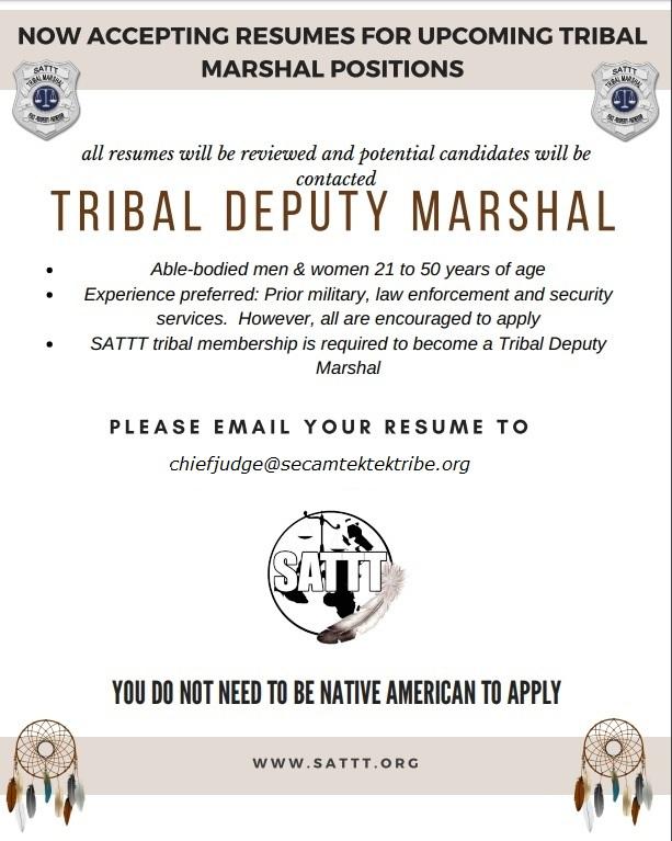 Tribal Marshal ad