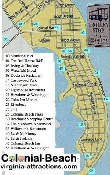 Colonial Beach Trolley Route