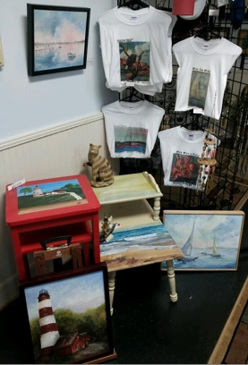 Tee Shirts and Painted Tables at Visions by Shirl