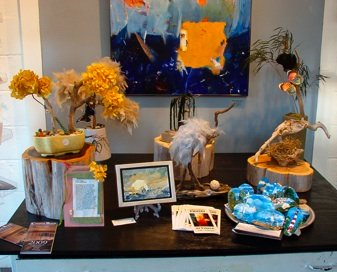 Colonial Beach's Wide River Gallery display